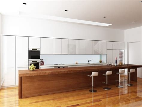 modern kitchen island bench modern island kitchen design using floorboards kitchen