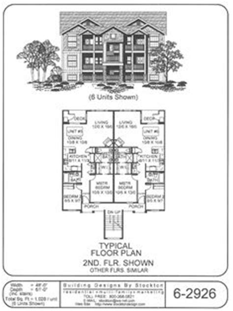 6 plex floor plans 6 plex bigger unit 3 bar 72x74 apartment house plan