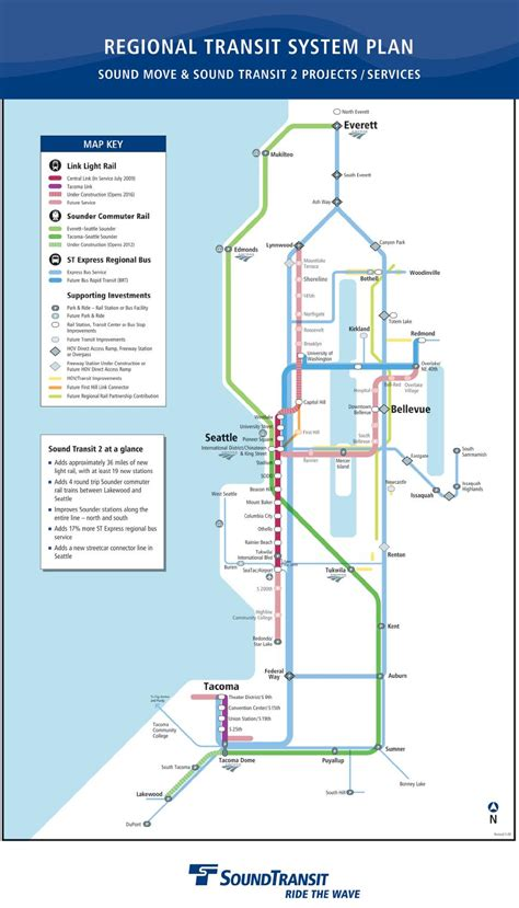 sound transit regional map seattle transit blog