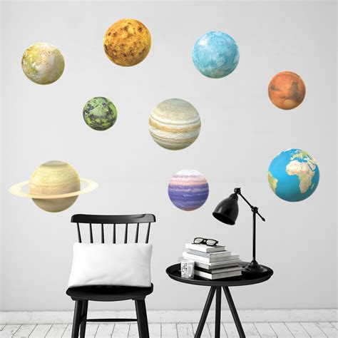 solar system bedroom decor quot for jordan my little 3d planets set wall decal
