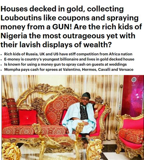 How Nigeria S Rich Make Spend Their Money Allafrica by Rich Of Nigeria Profiled By Daily Mail Uk E Money Davido Make The Cut Liveofofo