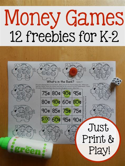 printable learning games print play money games for k 2 learners this reading