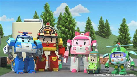 Background Robo Poli Kecil Poli Rescue Station robocar poli transforming robot korean animation