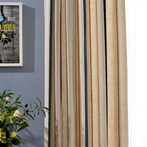 Waverly Valance Patterns Tan Striped Linen Pinch Pleated Funky Long Curtains And Drapes