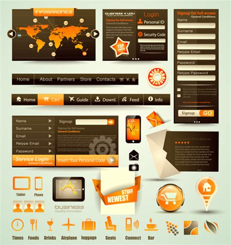 free web free vector web elements collection 02 vector web design