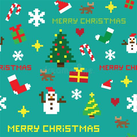 christmas pattern game seamless retro pixel game christmas pattern stock images