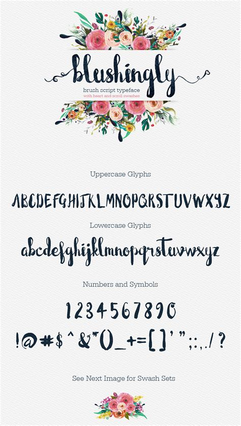 Wedding Font by Blushingly Typeface Wedding Script Font With Swashes On