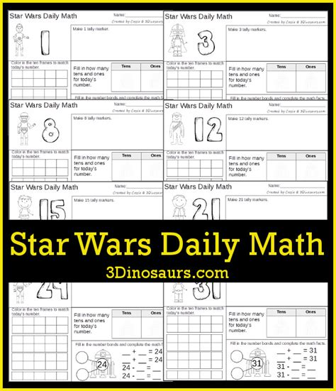 wars workbook 4th grade math wars workbooks books wars themed daily math 3 dinosaurs