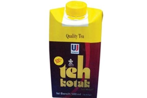 Teh Kotak 500ml ultrajaya teh kotak tea drink 16 9fl oz 6