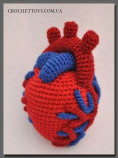 crochet pattern anatomical heart nerd crochet on pinterest anatomical heart harry