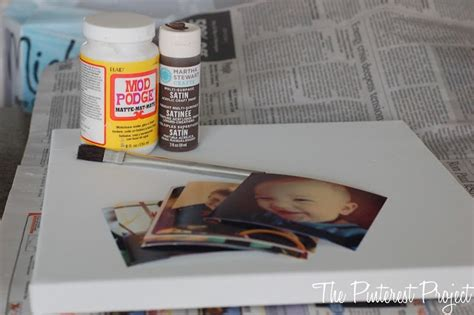 diy mod podge gifts mod podge pictures on canvas presents crafts gift ideas