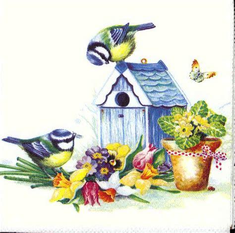 bird decoupage paper decoupage paper napkins of summer birds and birdhouse