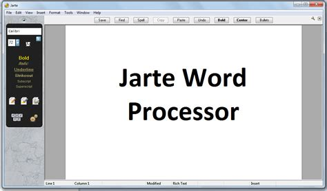 layout of word processing windows jarte is a fast portable and free word
