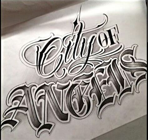 city of angels tattoo chicano lettering lettering chicano
