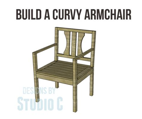how to build an armchair free plans to build a curvy armchair