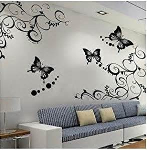 amazon butterfly flower wall decal sticker removable art stickers buy online best prices india