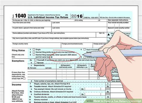 3 ways to read a tax return transcript wikihow