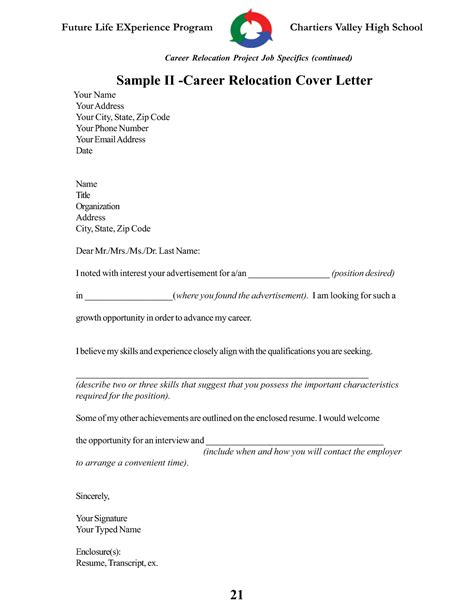 Relocation Consultant Cover Letter by Sle Relocation Cover Letter For Employment Guamreview