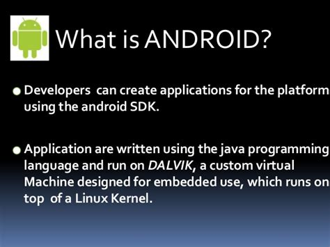 android programming language presentation for android os