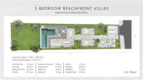 beach club villas floor plan baba beach club phuket luxury beachfront villa phuket