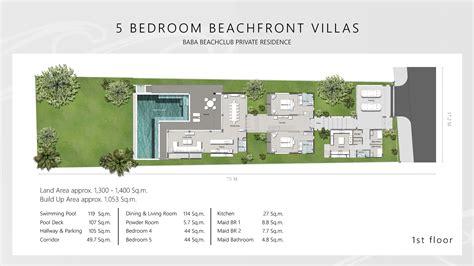 beach club villas floor plan baba beach club phuket luxury beachfront villa phuket