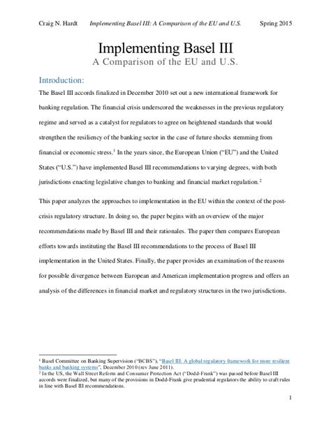 draft implementing basel iii