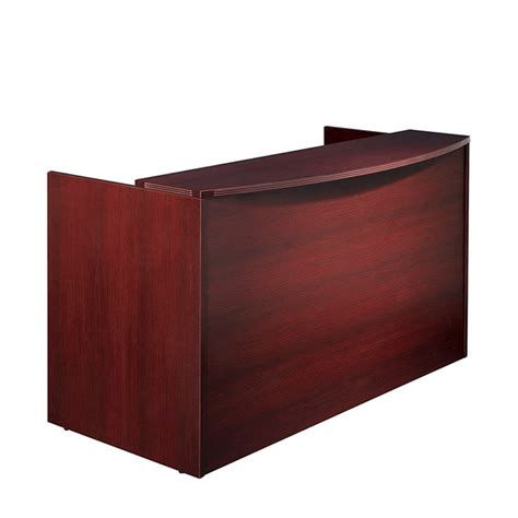 reception desk shell 72x36x42 cherry mahogany