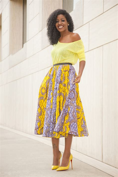 Etude Top White Blue Blouse Motif Musik style pantry neon yellow blouse ankara print midi skirt