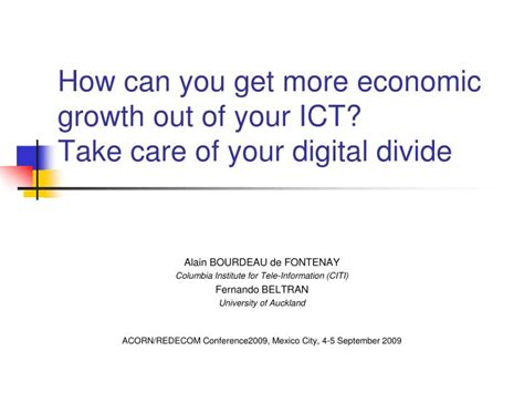 Can You Get An Mba With An Economics Degree by Ppt How Can You Get More Economic Growth Out Of Your Ict