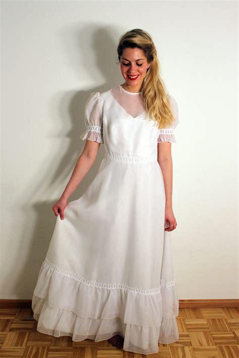 Brautkleider 90er Jahre by Vintage 70er Jahre Brautkleid Quot Quot Oma Klara