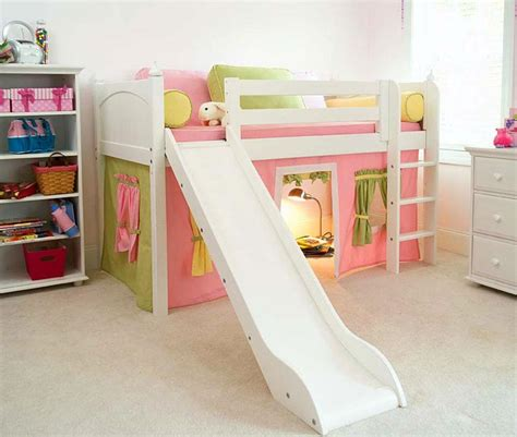 kids bunk bed with slide maxtrix kids usa kids bedroom children furniture for boys