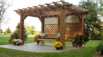 pergola with swing in johnstown ohio landscaping outdoor kitchens outdoor living in columbus ohio