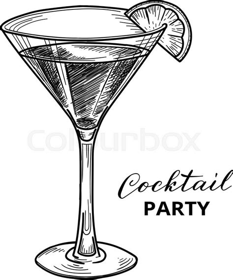 vintage martini illustration cocktail vector illustration cocktail