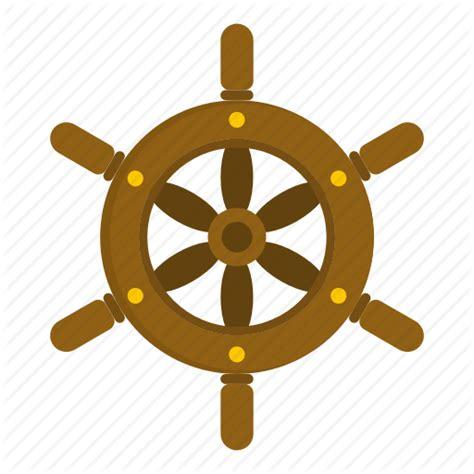 boat steering wheel icon pirate by ivan ryabokon