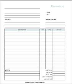 Free Invoice Templates To by Free Printable Blank Invoice Templates Free To Do List