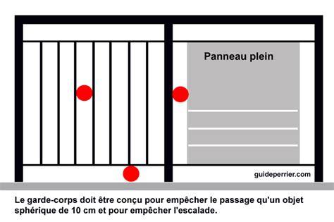 Hauteur Garde Corps Patio by Hauteur Garde Corps Patio