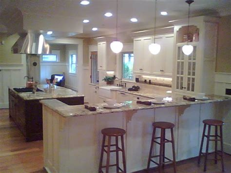 kitchen with bar kitchens remodeled spokane contractor