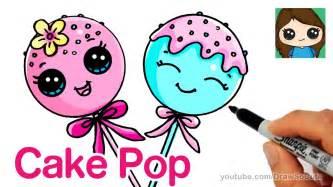 draw cake pop easy cute cartoon food