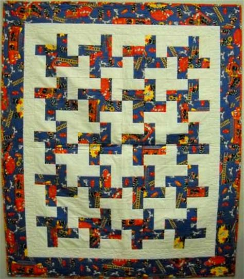 Fireman Quilt Pattern by Quilts For Sale