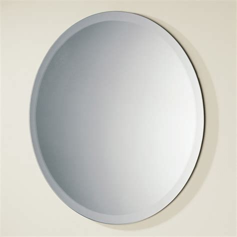 circular bathroom mirror hib rondo circular bevelled edge bathroom mirror 500mm dia
