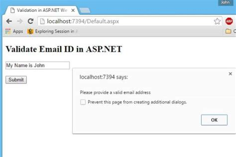 Search By Email Id Validate Email Id In Asp Net Textbox Using Javascript Codeproject