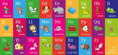 learn the alphabet learn abc with animal pictures teach your child to recognize the letters of the alphabet abcd for books procedure animal alphabet