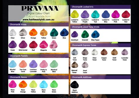 chromasilk hair color pravana hair color chart vivids pravana chromasilk