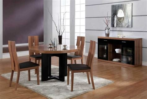 modern dining room tables italian luxurious round wood and clear italian dining room
