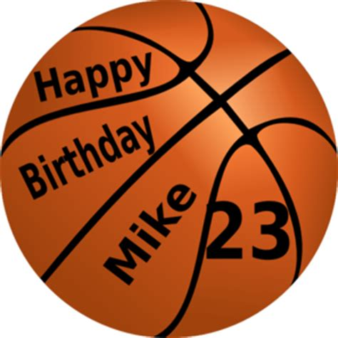 imagenes de happy birthday basketball happy birthday basketball clip art at clker com vector