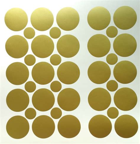 gold wallpaper stickers 50 2 inch removable vinyl gold polka dot stickers