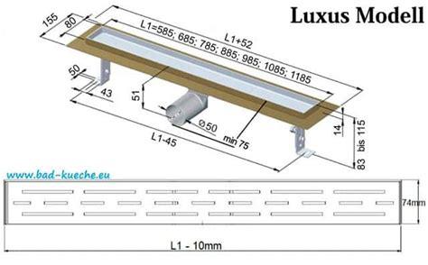 ablaufrinne dusche flach luxus duschrinne ablaufrinne aus edelstahl steel sl05