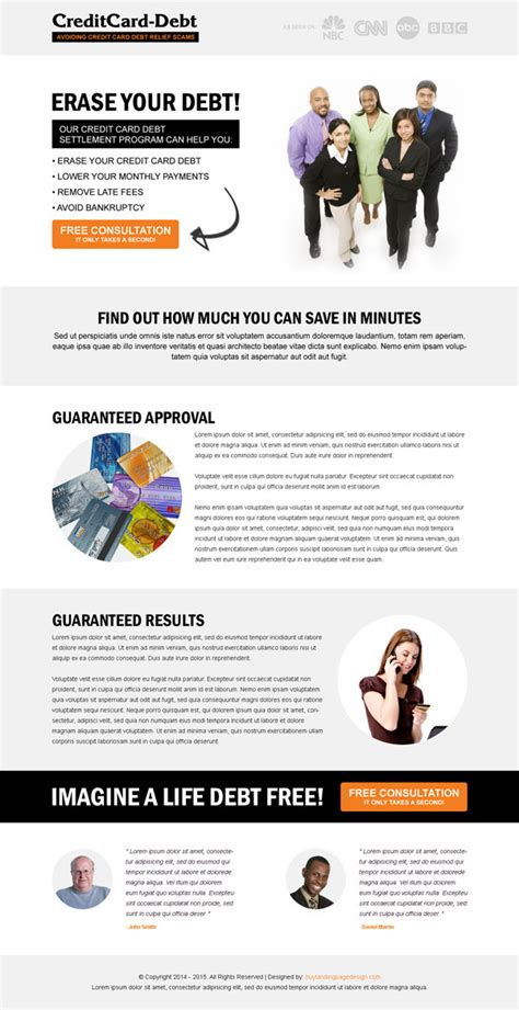 Credit Card Comparison Website Template click through rate landing page designs to boost yours sales