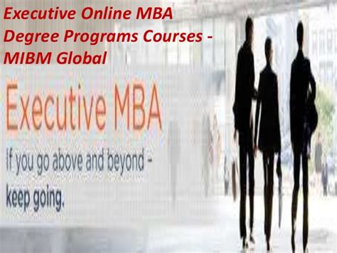 Executive Mba Majors by Executive Mba Certificate Degree Program Scope For