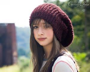 knit slouchy hat the slouch hat in black cherry